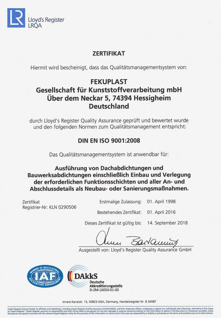 Fekuplast_ISO_Zertifikat